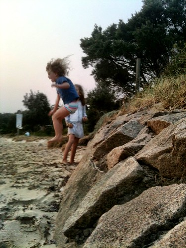Dadda Day: Jumping off the breakwater, curls flying... | by miaow