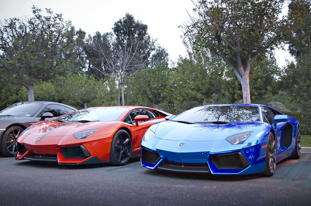 chrome blue and orange lamborghini aventador by axion23 - Lamborghini Aventador Blue Chrome