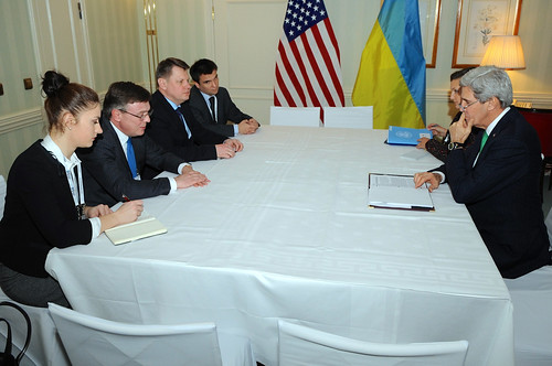 Secretary Kerry Meets With Ukranian Foreign Minister Kozhara at Munich Security Conference | by U.S. Department of State