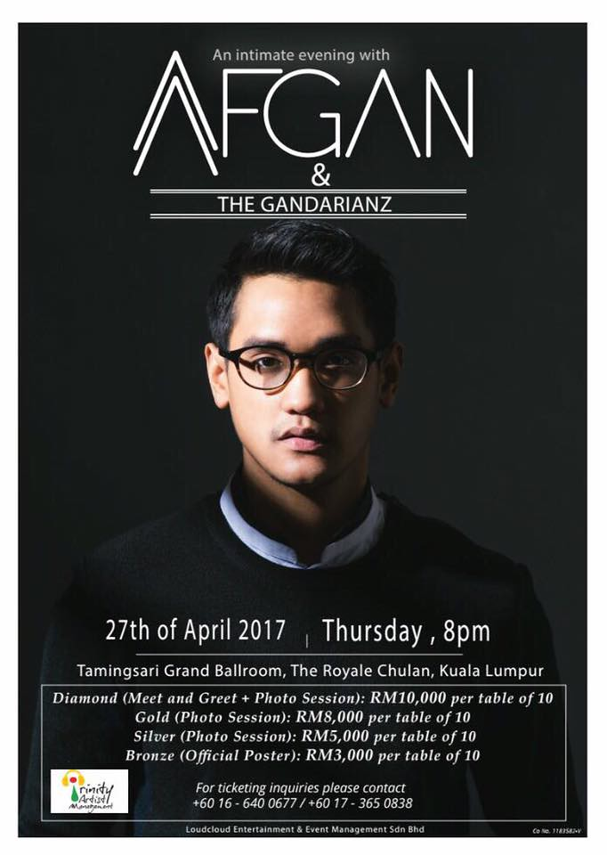 An Intimate Evening With Afgan Syahreza