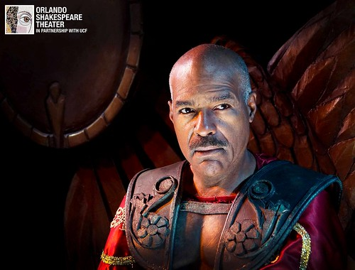 Michael Dorn stars as Antony in Orlando Shakespeare Theater's production of Antony and Cleopatra. Photo by Luke Evans