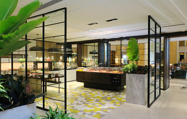 2. The stylishly designed dessert pavilion features an array of delectable desserts