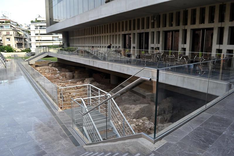 Parte de los restos arqueológicos bajo el museo.