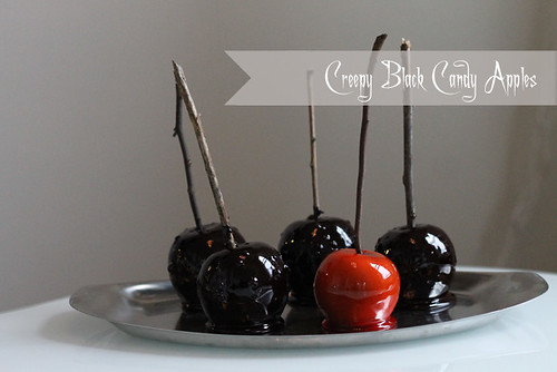 Halloween Recipe: Creepy Black Candy Apples | by Célèste of Fashion is Evolution
