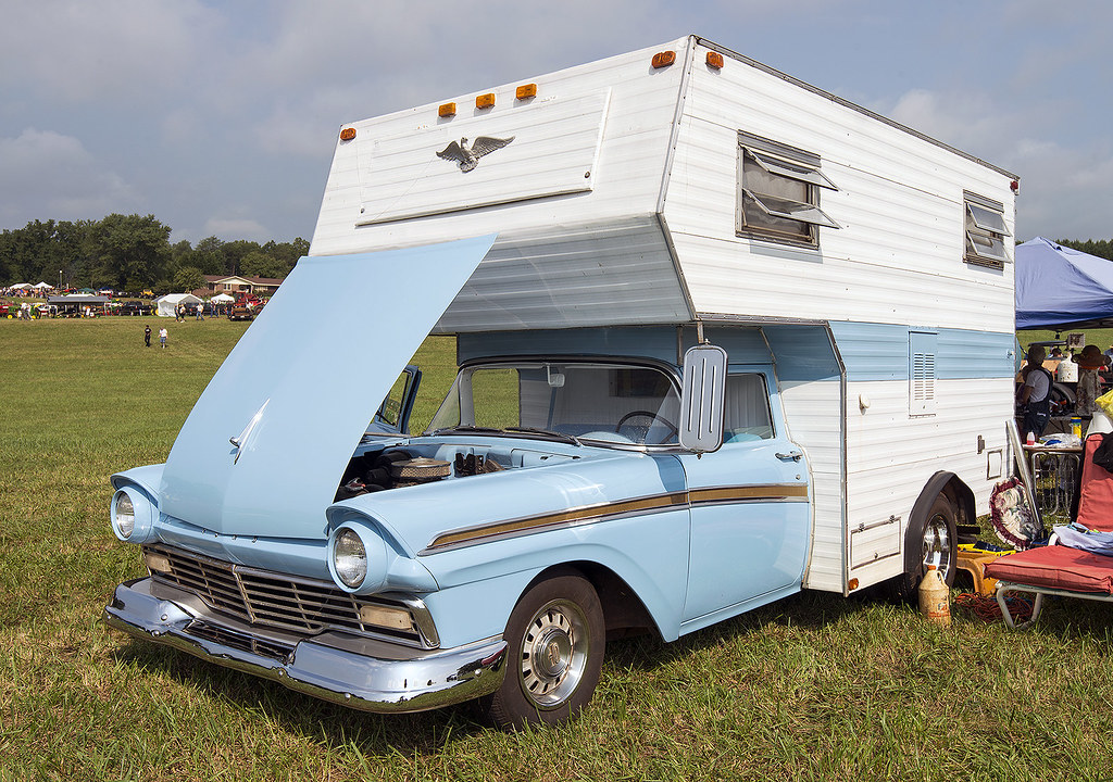 1957 ford ranchero camper by thumpr455