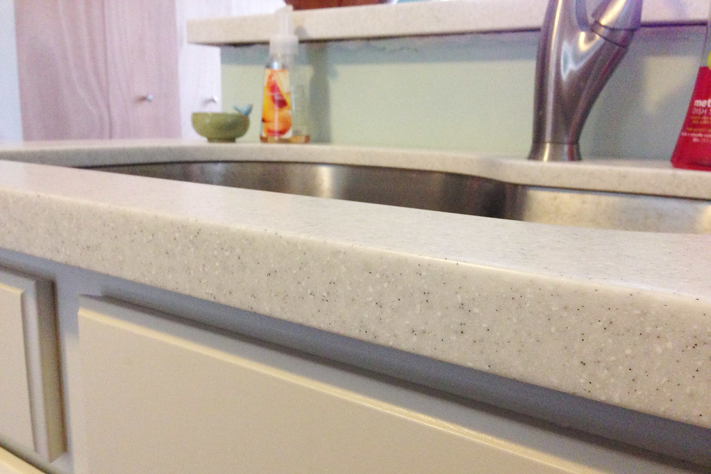 Beautiful LG HI MACS Countertops With Undermount Stainless Steel Sink | By Courtney U2026