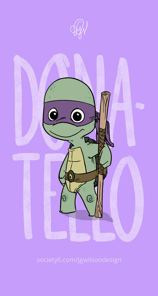 TMNT Donatello Cute Dangerous IPhone 5 Wallpaper