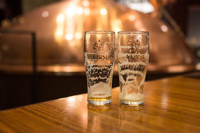 飲み干したビールのグラス
