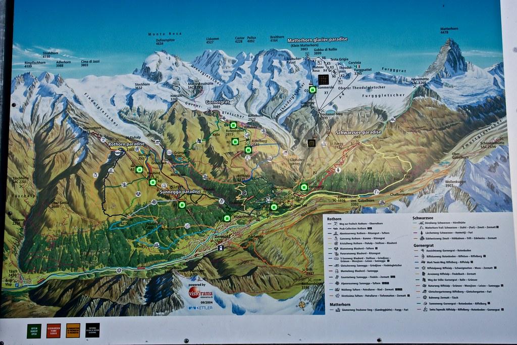 Zermatt The Summer Map Alan Grinberg Flickr