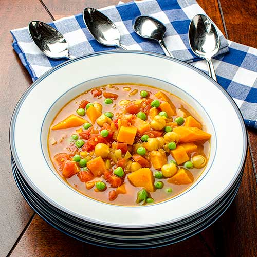 Moroccan-Spiced Sweet Potato and Chickpea Soup
