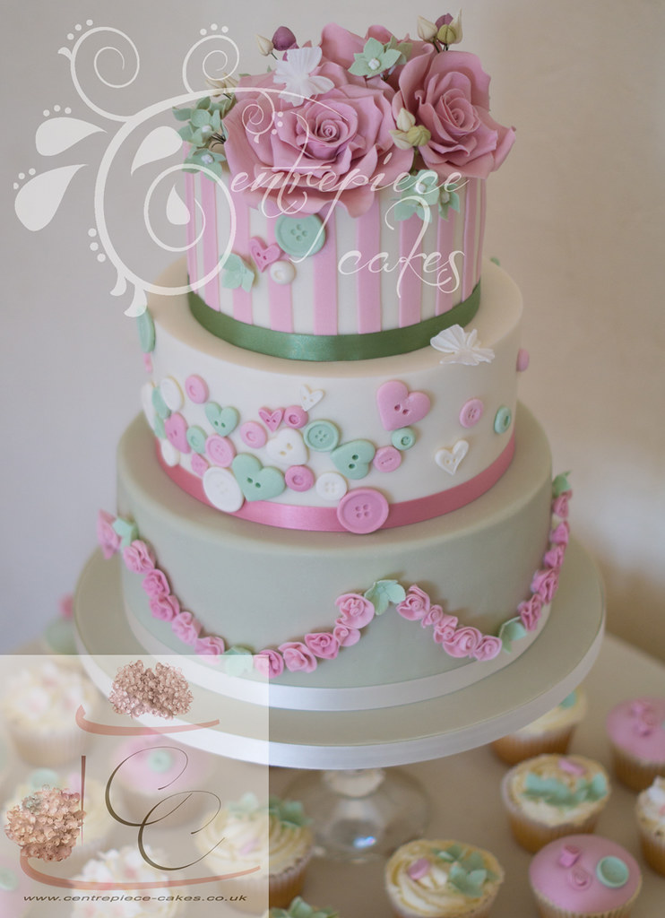 ... Centrepiece Cakes   Shabby Chic Vintage Wedding Cake | By Centrepiece  Cakes