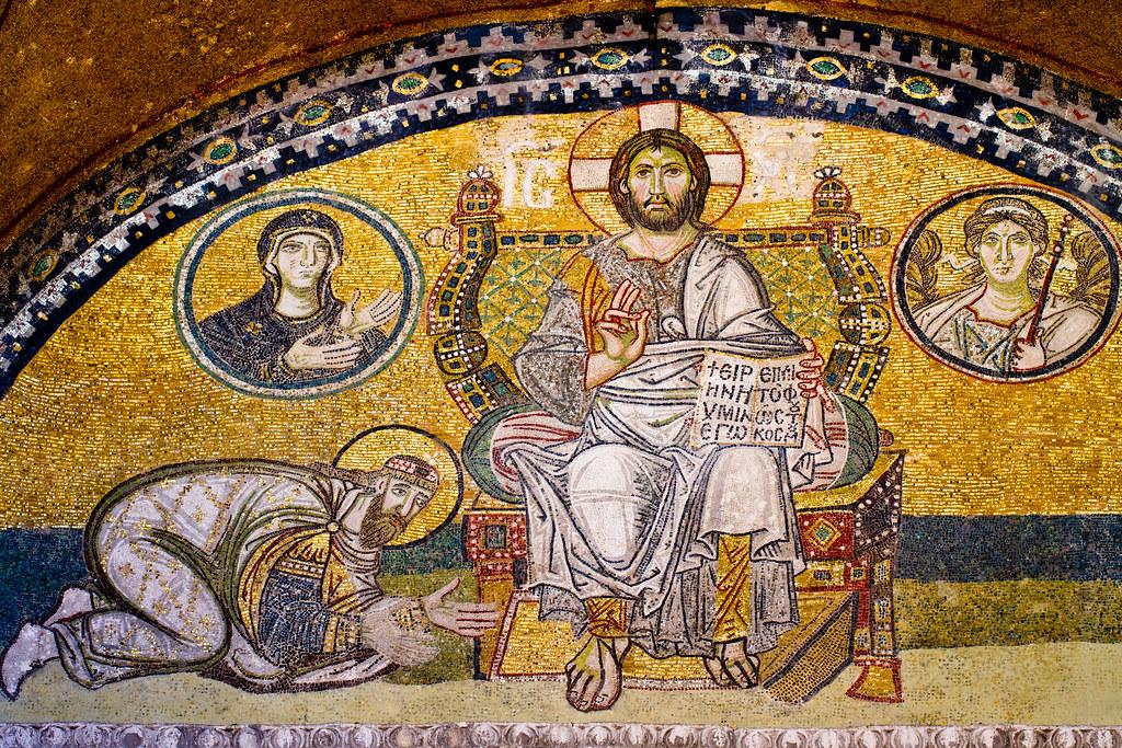 ... Imperial door mosaic Haghia Sophia | by iharsten  sc 1 st  Flickr & Imperial door mosaic Haghia Sophia | This mosaic is located\u2026 | Flickr