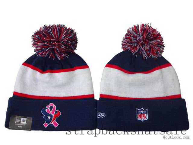... Houston Texans Beanie Hats Pom Pom Winter Knit New Era NFL Caps BCA  CRUCIAL CATCH  e9b20adde