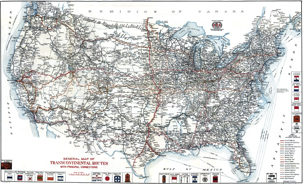 AAA United States Road Map 1918   Road map from 1918 by the …   Flickr