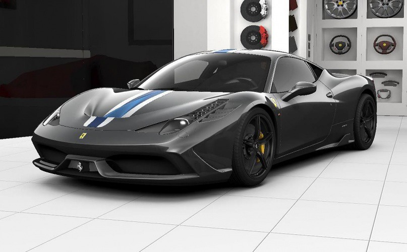 nicolaichenco1990 ferrari 458 speciale dark grey blue and white stripes concessionaire configuration by nicolaichenco1990 - Ferrari 458 Blue And White