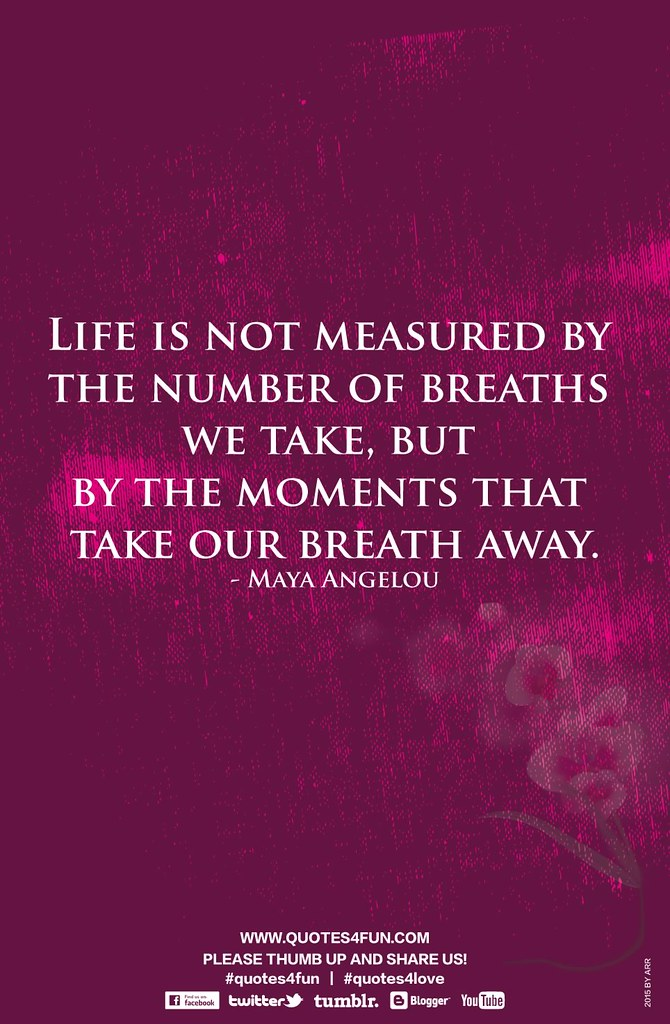 ... Quote | Life Is Not Measured By | By Quotes4all