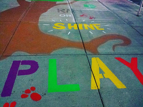 Rain or shine...PLAY! #sidewalkart #genevany