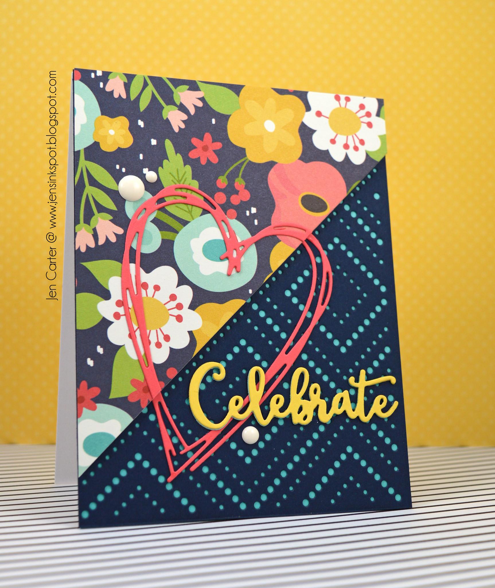 Jen Carter LID Color Block Die Celebrate
