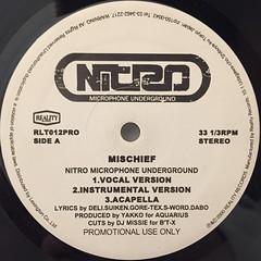 NITRO MICROPHONE UNDERGROUND:MISCHIEF(LABEL SIDE-A)