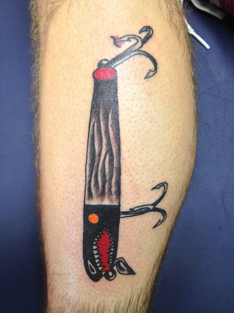 Fishing lure tattoos