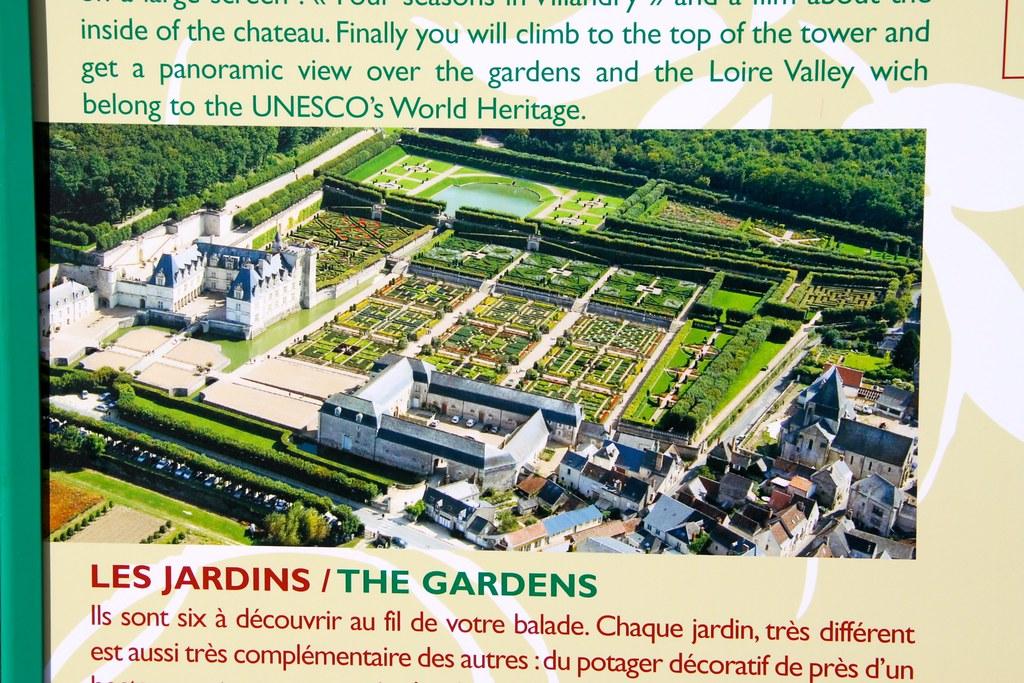 Chateau De Villandry Aerial Photo Of The Gardens Of Villan Flickr