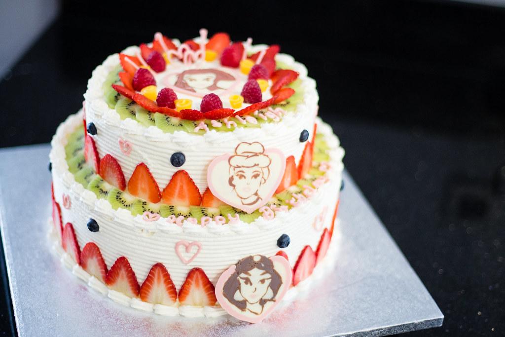Happy Birthday Ashleigh Disney Princess Cake Fresh Cream Flickr