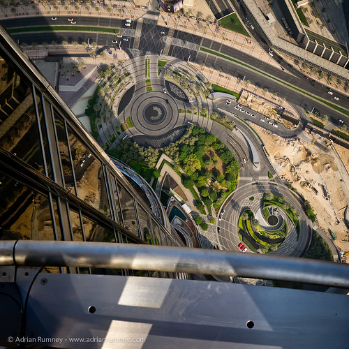 The view down from the Burj Khalifa | by Adrian Rumney