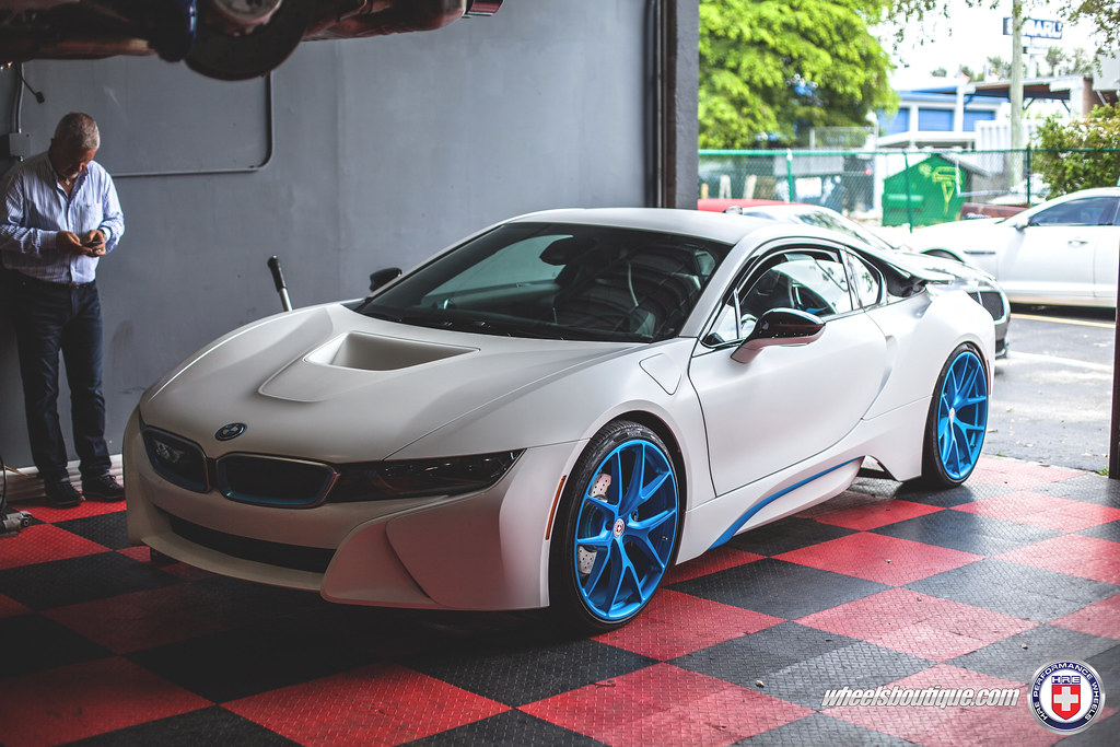 Bmw I8 On Hre Ilectric Blue P101 Wheels Boutique Flickr
