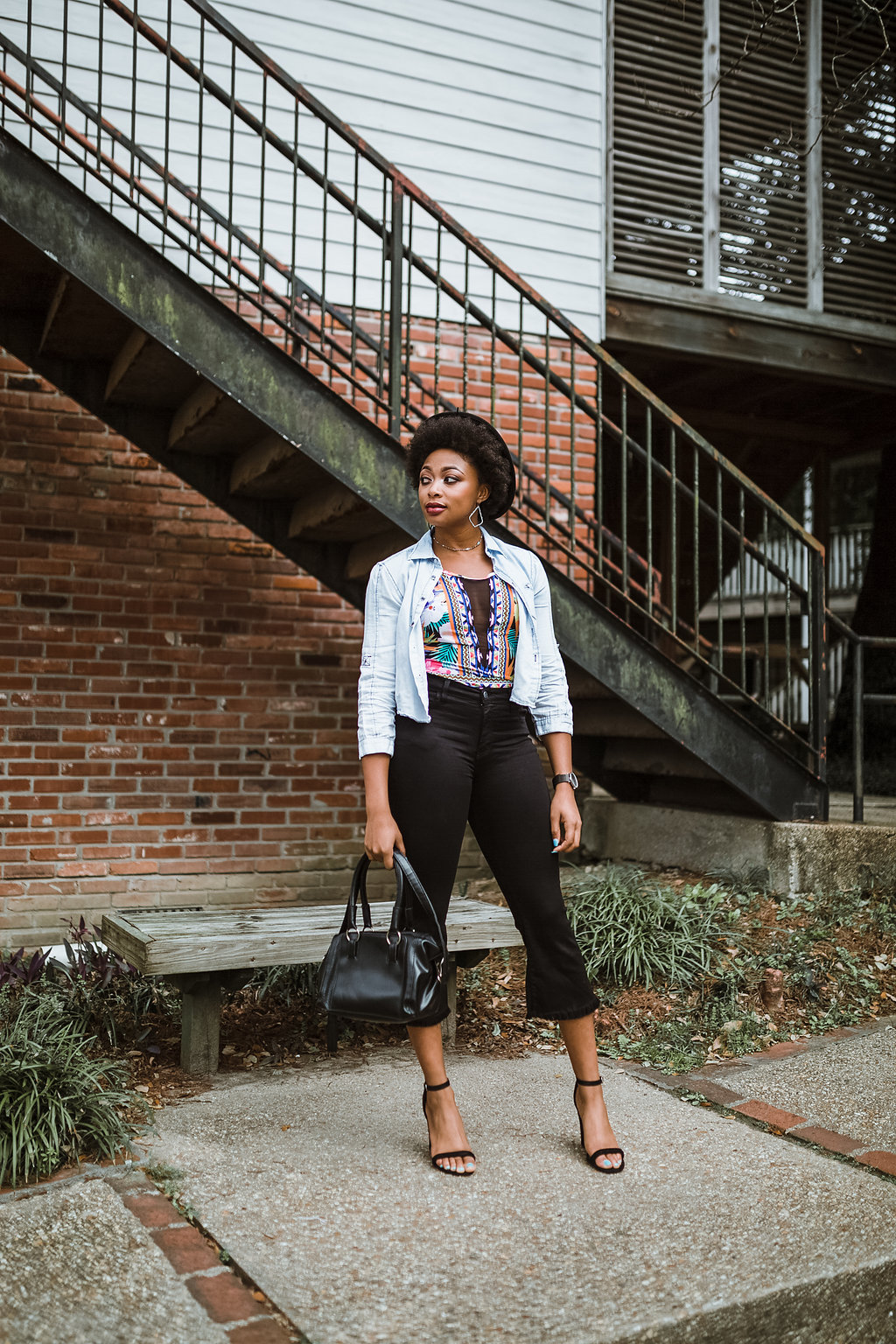 how to wear cropped flares, candace hampton