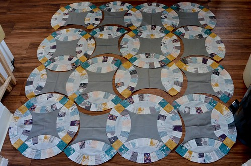 11. Repeat according to instructions ~16 times. Not all circle units are a full circle!!!