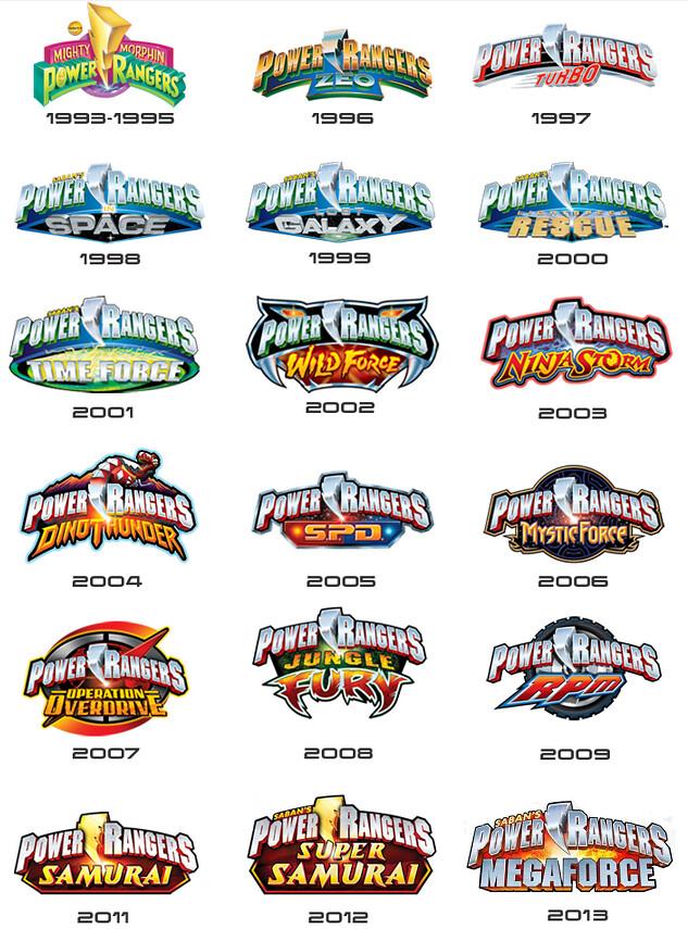 Power Rangers Logos Ryan Smith Flickr