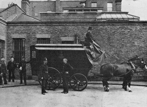 Police Black Maria Horse Drawn C1900 I Think This Is