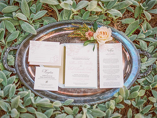 Invitation Suite from the Notebook Inspired Photo Shoot | by Sweet Lauren Cakes