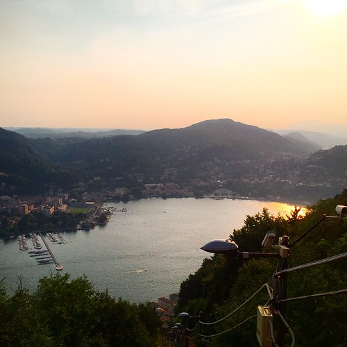 Sunset over #LakeComo! Beautiful! #Italy #remoteyear #travel | by cassandrautt