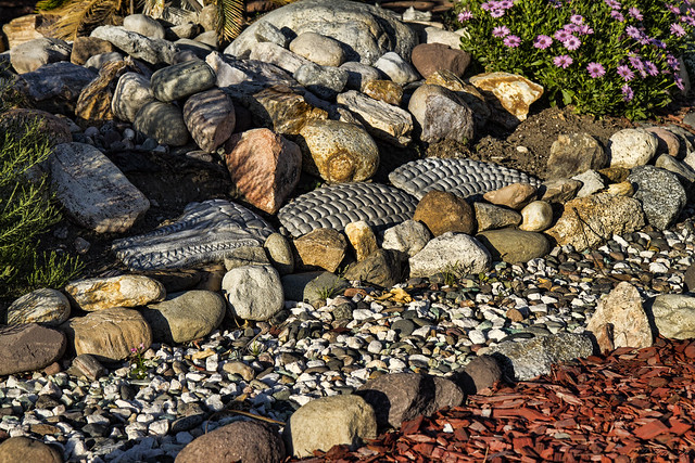 Stone alligator