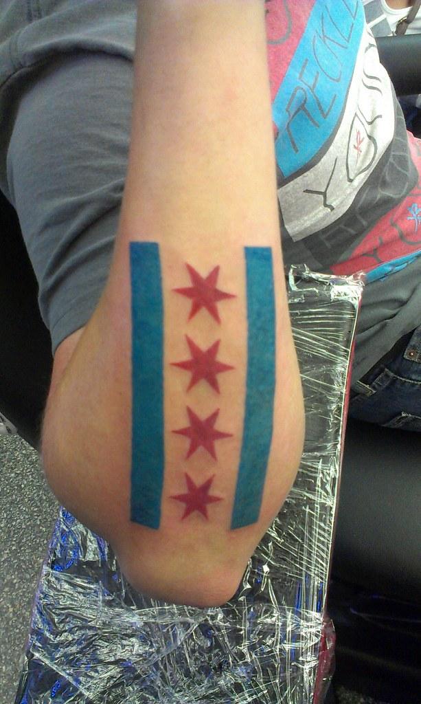Chicago Flag Tattoo JUCHNOWSKI Flickr