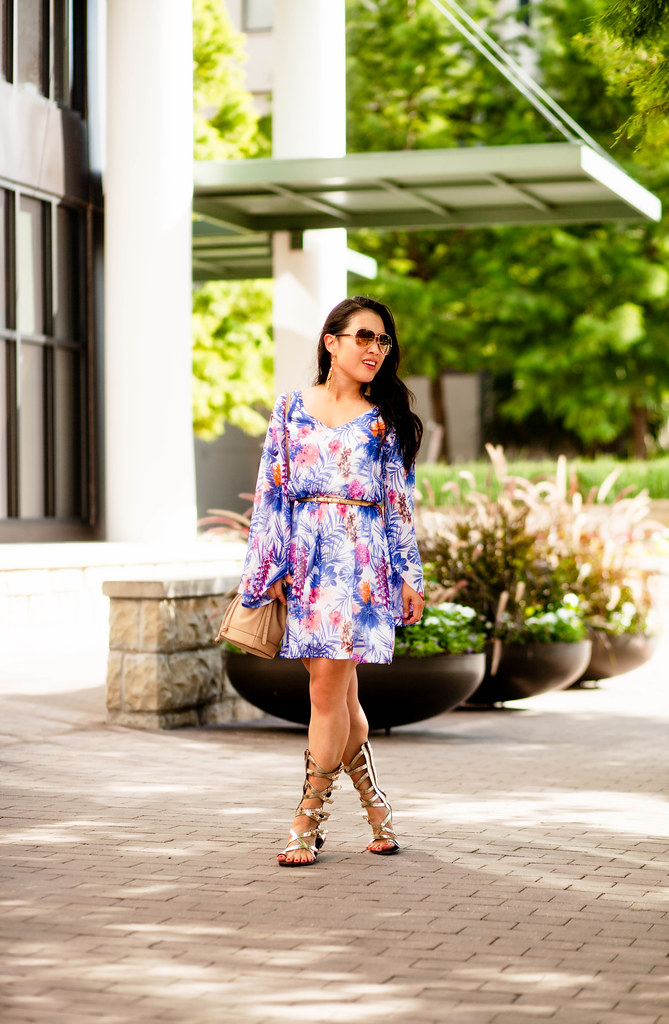 ... cute u0026 little blog | petite fashion | pink blush tropical chiffon dress bucket bag  sc 1 st  Flickr & cute u0026 little blog | petite fashion | pink blush tropical u2026 | Flickr