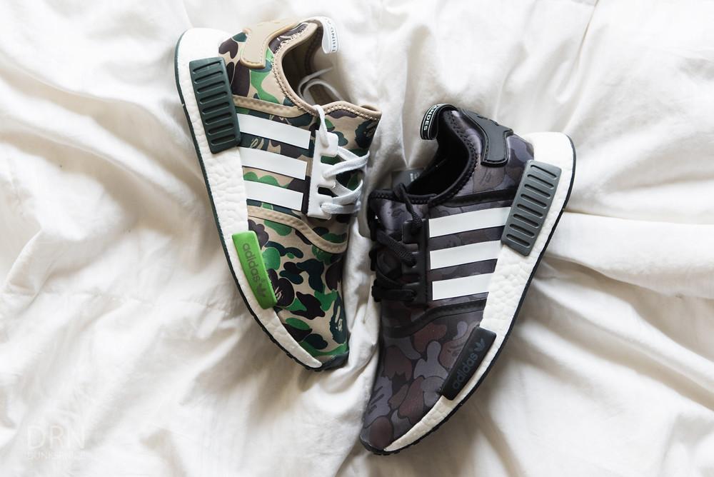 Adidas Bape Green & Black Camo NMD's.