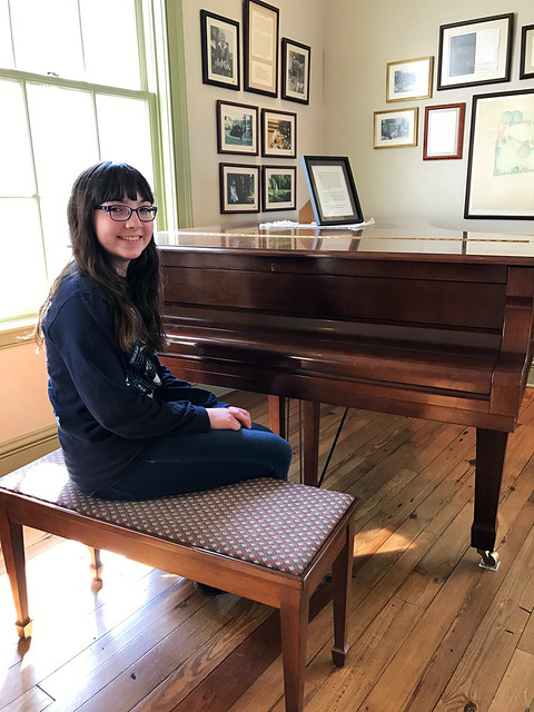Julia at Edward Montgomery Jr.'s Piano