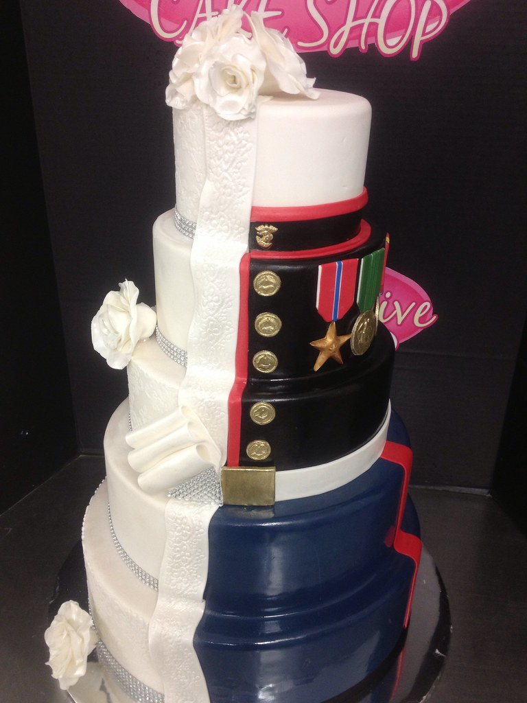 Half Wedding Cake Marine Corps Grooms