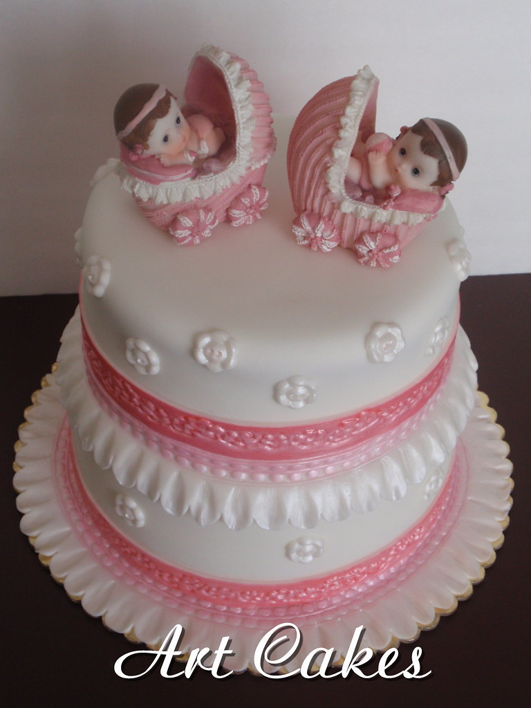 ... Baby Shower For Twins Girls | By Art Cakes