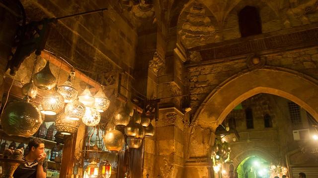 Inside Khan El-Khalili's Bab El-Ghuri gate