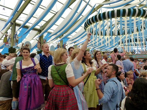 Oktoberfest in Munich: inside the tent | by romanboed
