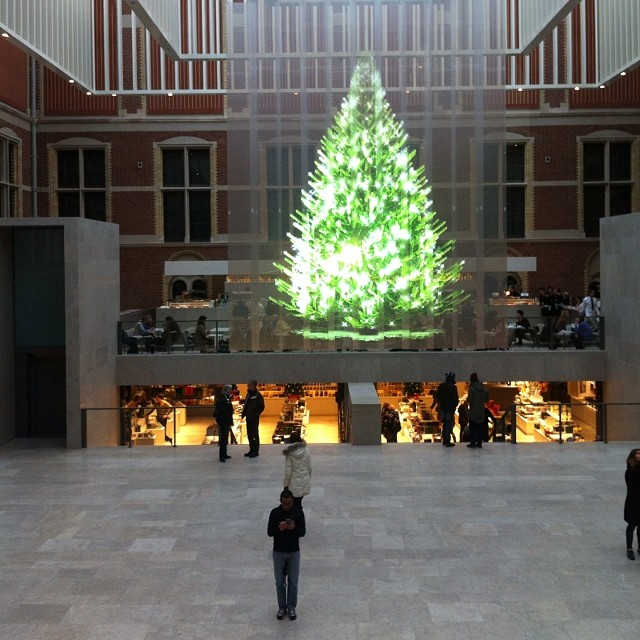 by paco54 hologram xmas tree in rijks museum amsterdam by paco54