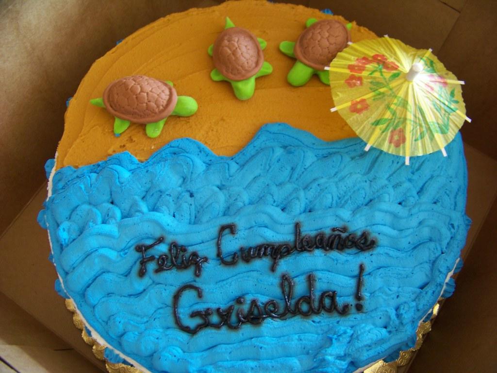 Beach Sea Turtles Birthday Cake Heather Santos Bake A Wish Flickr