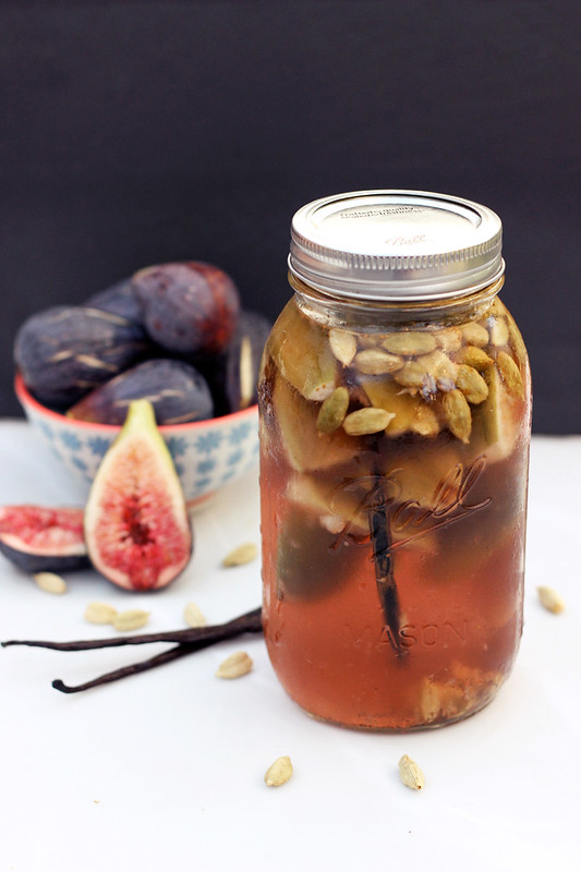 Fig, Vanilla Bean and Cardamom Infused Vodka