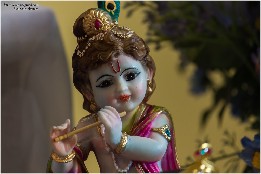 navaratri cute krishna from the golu set up at a colleagu flickr