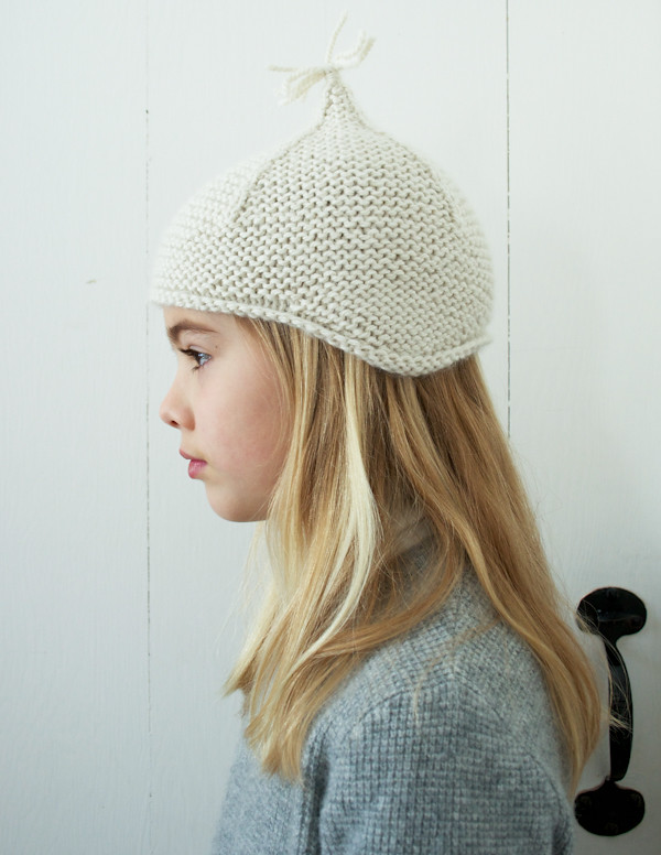 Lauras Loop Garter Ear Flap Hat by the purl bee 100% high ... eb78a0893c1