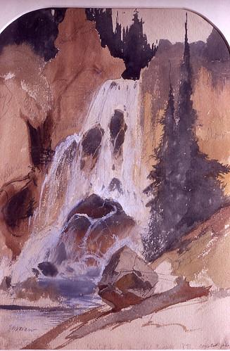 Crystal Falls Crystal Falls Thomas Moran 1871 Catalog