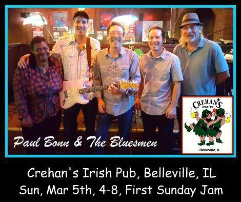 Paul Bonn & The Bluesmen 3-5-17